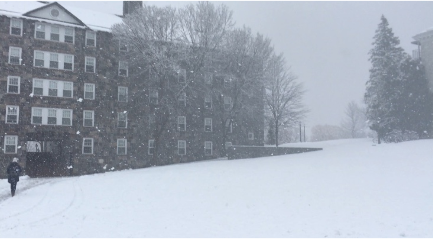 Mother Nature Blesses Middlebury With More White Snowflakes