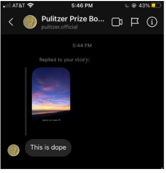 Student's Instagram Story of Sunset Wins Pulitzer Prize