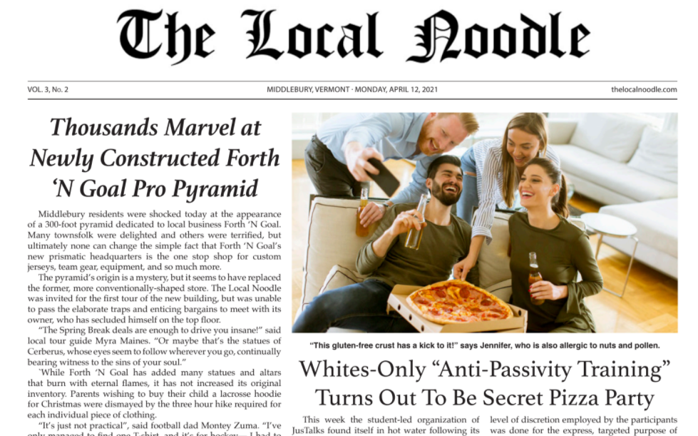 Campus Rejoices as Noodle Print Edition Goes Live!